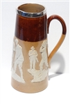 DOULTON LAMBETH GOLF THEMED PITCHER WITH STERLING RIM