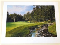 SIGNED BY JACK NICKLAUS, MUIRFIELD, OHIO  LITHOGRAPH WITH ARTIST SIGNATURE