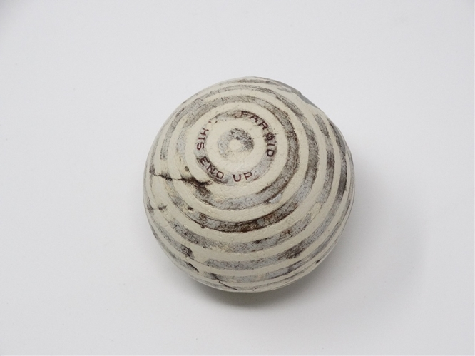 "RARE FAROID UNIQUE PATTERNED BALL ""THIS END UP"""
