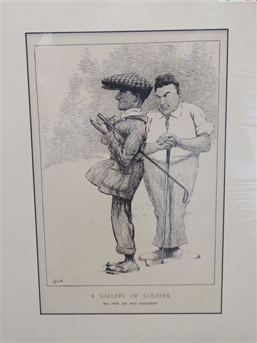 "1909 ILLUSTRATION BY KEMBLE "" A GALLERY OF GOLFERS"""