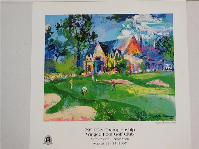 79TH PGA CHAMPIONSHIP AT WINGED FOOT GOLF CLUB BY LEROY NEIMAN, 1997