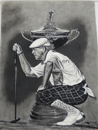 PAYNE STEWART PAPER GICLEE LIMITED EDITION #44 OUT OF 50