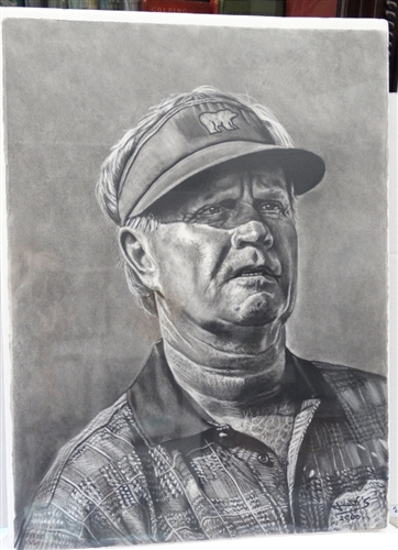 JACK NICKLAUS ORIGINAL CHARCOAL DRAWING BY JOSE - LIMITED EDITION #1 OF 6