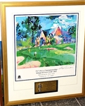1997 SIGNED LEROY NEIMAN LITHOGRAPH PRESENTED TO DOUG FORD AT PGA CHAMPIONS DINNER AT WINGED FOOT