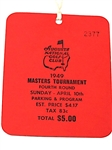 1949 MASTERS TICKET, MINT CONDITION - SAM SNEAD WINNER, FIRST YEAR GREEN JACKET WAS AWARDED