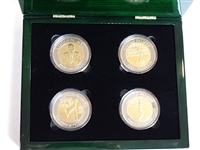 ARNOLD PALMER LTD ED MASTERS CHAMPIONSHIP FOUR SILVER & GOLD COINS WITH COA