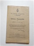 1932 THE AMATEUR CHAMPIONSHIP AT MUIRFIELD OFFICIAL PROGRAMME