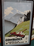 "ORIGINAL FRENCH POSTER FROM COMBLOUX- FRAMED SIZE 31"" X 47"""