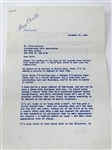 1960 PERSONAL LETTER FROM BING CROSBY TO FRED CORCORAN ABOUT SAM SNEADS BEHAVIOR. HISTORICAL PIECE.
