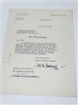 SIGNED TED WILLIAMS LETTER TO FRED CORCORAN (TOURNAMENT DIRECTOR) DATED 1955