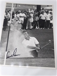 "ARNOLD PALMER SIGNED PHOTOGRAPH- BUNKER SHOT, SIZE 11"" X 14"