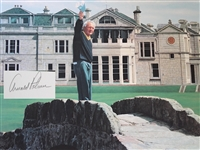 ARNOLD PALMER SIGNED PAPER GICLEE, ARTIST PROOF #21 OF 50 BY HELEN RUNDELL