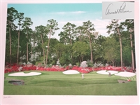 SIGNED ARNOLD PALMER AT THE MASTERS, 13TH AT AUGUSTA NATIONAL GOLF CLUB, LIMITED EDITION BY HELEN RUNDELL