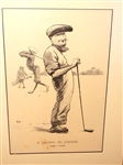 1909 GALLERY OF GOLFERS ILLUSTRATION OF JEROME TRAVERS