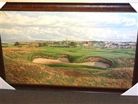"OLD COURSE ST. ANDREWS DELUXE CANVAS GICLEE BY NOTED GOLF ARTIST LINDA HARTOUGH, 14TH HOLE ""HELL BUNKER"""