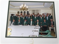 2015 OFFICIAL MASTERS CLUB DINNER IN AUGUSTA NATIONAL GOLF CLUB WITH THE WINNER OF THE GREEN JACKET, INCLUDING ARNOLD PALMER