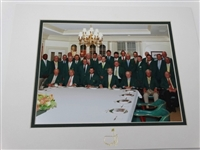 2014 MASTERS TOURNAMENT OFFICIAL CLUB DINNER WITH WINNERS OF THE GREEN JACKET IN AUGUSTA NATIONAL GOLF CLUB