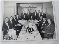 1959 MASTERS TOURNAMENT CLUB DINNER WITH THE WINNERS OF THE GREEN JACKET INCLUDING YOUNG ARNOLD PALMER, BEN HOGAN AND OTHERS