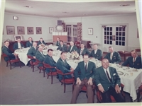 1964 MASTERS TOURNAMENT CLUB DINNER WITH THE WINNERS OF THE GREEN JACKET, ARNOLD PALMER WON HIS 4TH MASTERS