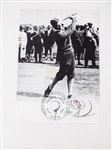 BOBBY JONES PHOTOGRAPH POST CARD STAMPED BY FRENCH GOLF FEDERATION IN PARIS ON 18TH OF OCTOBER 1980