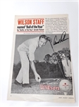 SIGNED BY ARNOLD PALMER PAGE FROM ANNUAL GOLF DIGEST ADVERTISING WILSON GOLF BALL