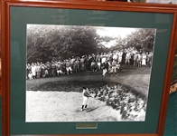 1928 BOBBY JONES US AMATEUR AT BRAE BURN COUNTRY CLUB, RARE FRAMED PHOTO