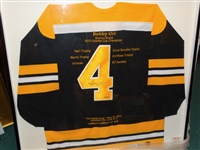 BOBBY ORR AUTOGRAPHED HISTORICAL JERSEY WITH CERTIFICATE OF AUTHENTICITY FROM GREAT NORTH ROAD