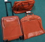 AUGUSTA NATIONAL GOLF CLUB NEW 3 PIECE MASTERS LEATHER SET OF LUGGAGE PRESENTED TO PAST CHAMPIONS FROM DOUG FORD COLLECTION