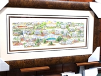 ORIGINAL WATERCOLOR PAINTING OF HISTORICAL PINEHURST AND EVERY HISTORIC BUILDING IN THE VILLAGE