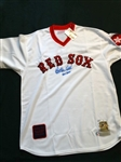 CARLTON FISK SIGNED AUTHENTIC JERSEY WITH CERTIFICATE OF AUTHENTICITY FROM MOUNTED MEMORIES