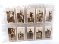 1928 COMPLETE SET OF 27 REAL PHOTOGRAPHS CIGARET CARDS FROM J. MILLHOFF & CO. LTD. LONDON ENGLAND