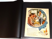 COLLECTION OF ORIGINAL 40 GOLF ADS IN PRESENTATION BINDER - CIRCA 20s,30s,40s,50s,60s.