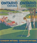 1930 ONTARIO, CANADA TRAVEL BROCHURE WITH GOLF