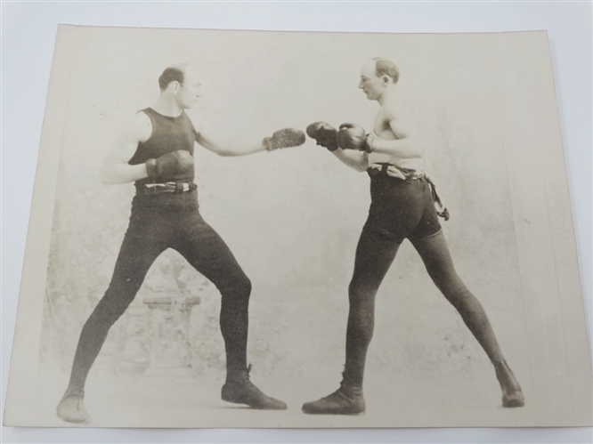 1901 ORIGINAL PHOTO OF SULLIVANS BROTHERS - BOXERS