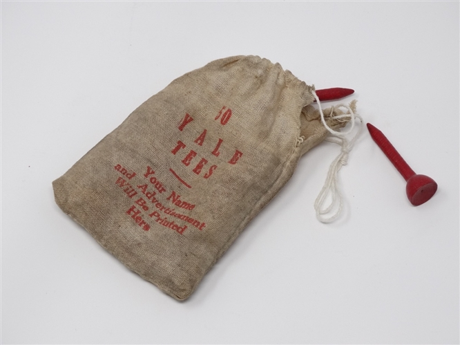 BAG OF YALE TEES, CIRCA 1905