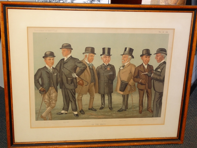 1896 DRAWINGS OF FAMOUS BRITISH MEN FROM VANITY FAIR MAGAZINE