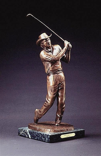GREG NORMAN BRONZE STATUE BY KARL FARRIS FROM THE BEN WRIGHT COLLECTION
