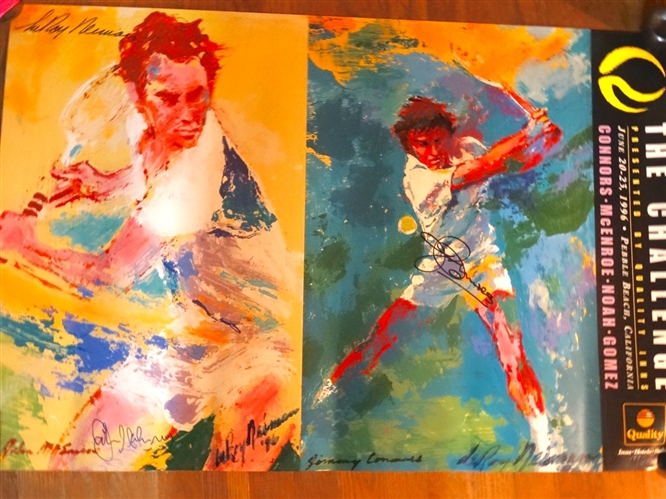 "SIGNED BY JIMMY CONNORS AND JOHN McENROE AND LEROY NEIMAN POSTER ""THE CHALLENGE"" PLAYED AT PEBBLE BEACH, 1996"