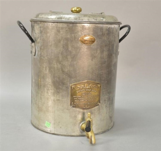 1874 TOURNAMENT HOLE TOLE WATER COOLER WITH SPIGOT FROM BOURNE GOLF CLUB