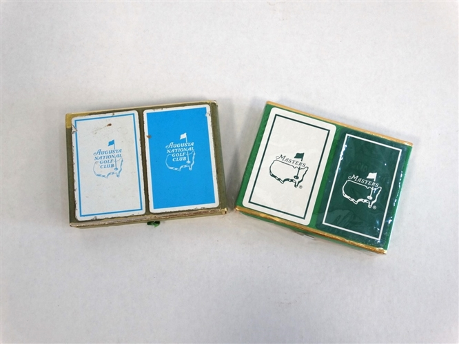 SET OF TWO BOXES OF PLAYING CARDS - ONE IS FOR THE MEMBERS OF ANGC AND ONE IS FROM THE MASTERS