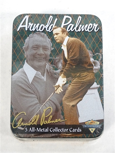 ARNOLD PALMER 5 ALL METAL COLLECTOR CARDS