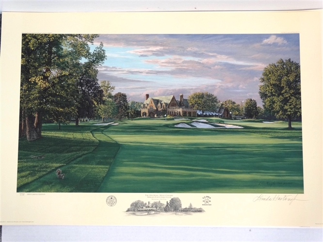 WINGED FOOT GOLF CLUB THE 9TH HOLE, WEST COURSE - OFFICIAL LIMITED EDITION LITHOGRAPH OF THE 2006 US OPEN, SIGNED & NUMBERED