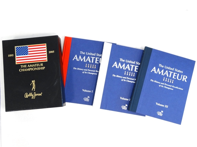 SET OF 3 VOLUMES OF THE UNITED STATES AMATEUR HISTORY AND PERSONAL RECOLLECTIONS OF ITS CHAMPIONSHIP IN SLIPCASE