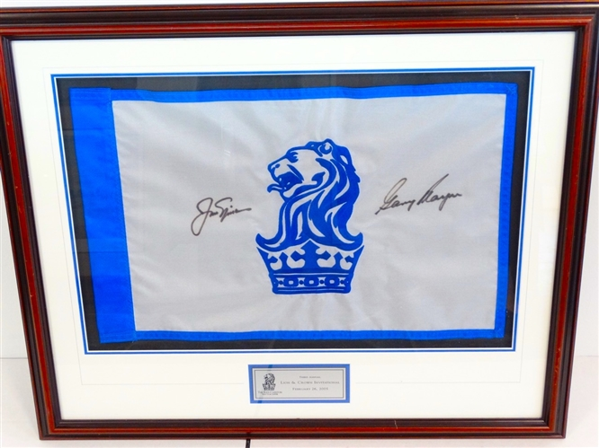 SIGNED BY JACK NICKLAUS AND GARY PLAYER FLAG FROM THE RITZ-CARLTON GOLF CLUB IN FLORIDA, THIRD ANNUAL INVITATIONAL, 2005