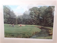 LIMITED EDITION LITHOGRAPH BY ARTHUR WEAVER OF MERION GOLF CLUB, THE APPROACH TO THE 11 GREEN, SIGNED BY THE ARTIST