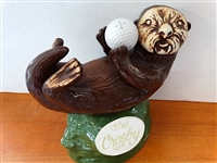 CROSBY CLAMBAKE PEBBLE BEACH DECANTER-  SEA OTTER, 42ND CROSBY