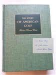 "SIGNED BY HERBERT WARREN WIND HIS BOOK ""THE STORY OF AMERICAN GOLF"""
