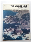 THE WALKER CUP 28th MATCHES HELD AT CYPRESS POINT IN 1981 PROGRAM BOOK