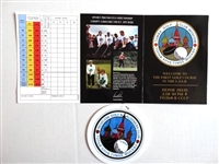 SCORE CARD AND BAG TAG FROM THE FIRST EVER GOLF CLUB IN THE USSR LOCATED IN MOSCOW - 9 HOLES