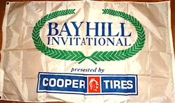 TOURNAMENT FLOWN BAY HILL INVITATIONAL LARGE BANNER PRESENTED BY COOPER TIRES- BAY HILL CLUB & LODGE OWNED BY ARNOLD PALMER